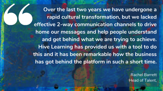 Babcock DST's Rachel Barrett on how Hive Learning provided them with a tool for effective 2-way communication channels