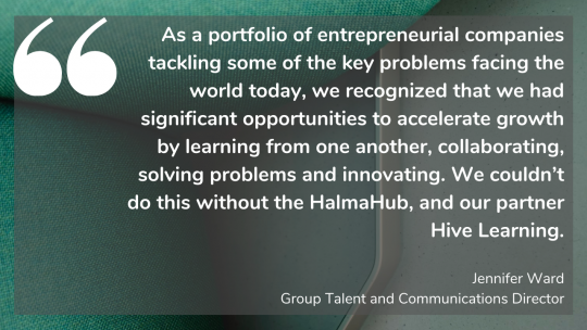 Halma's Jennifer Ward on how Hive Learning helped them accelerate growth